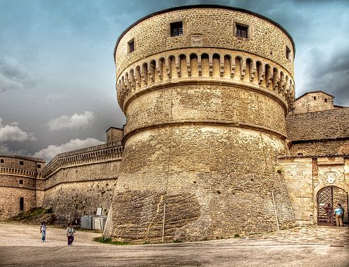 The 15th century fortress of San Leo, Italy