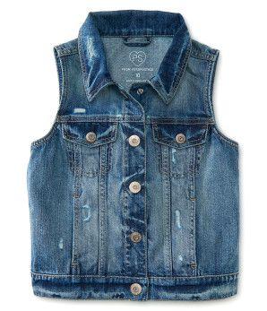 Kids' Medium Wash Denim Vest -