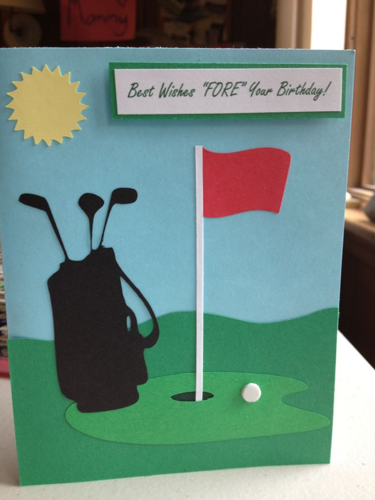 Golf Birthday Card