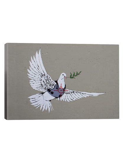 Armoured Peace Dove by Banksy (Canvas) by iCanvas at Gilt