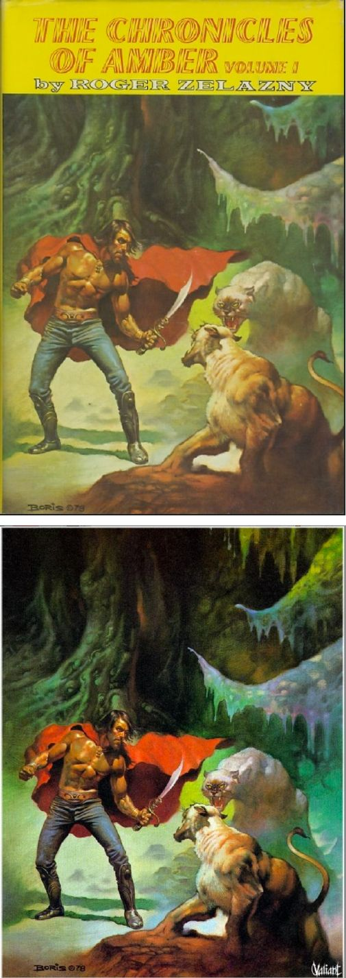 BORIS VALLEJO - The Chronicles of Amber: Volume I by Roger Zelazny - 1979 Nelson Doubleday / SFBC - cover by isfdb - print by wordsofwonderment.blogspot.com