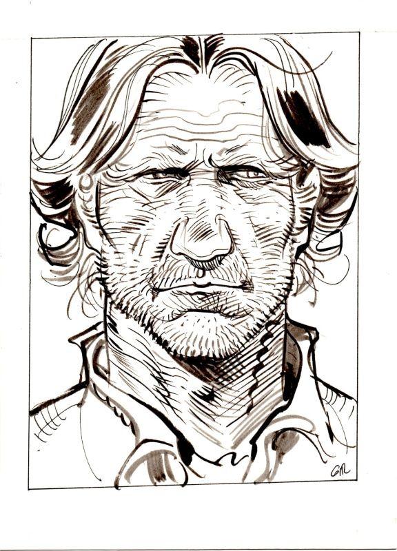 Portrait de Red Neck par Jean Giraud - Illustration