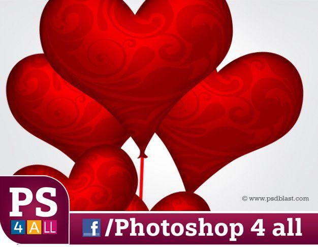 سكرابز قلوب صور مفرغة لقلوب للتصميمات عيد الحب والتصميمات ذات الطابع الرومانسى Photoshop 4 Photoshop Blog