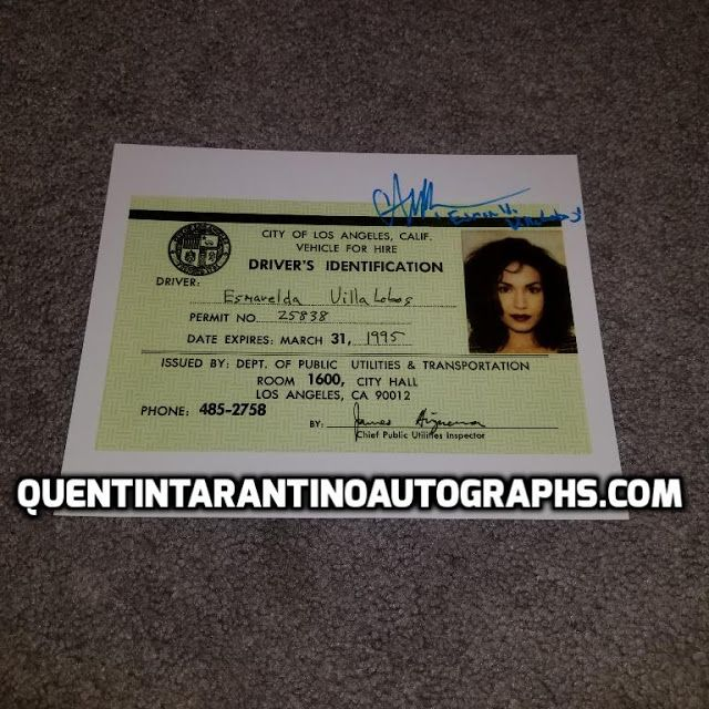 My Quentin Tarantino Autograph Collection: Angela Jones! Esmarelda Villalobos! Pulp Fiction! ...