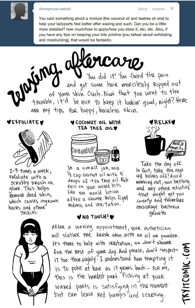 This is so important for the Brazilian wax! great tips for our clients here at Light Salon and Spa