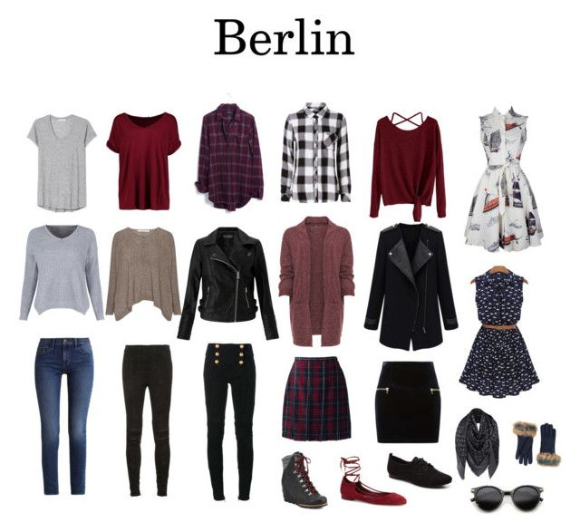 Berlin Travel Capsule Wardrobe by maddypenny on Polyvore featuring polyvore, fashion, style, WithChic, WearAll, Rails, Madewell, Boohoo, Miss Selfridge, Calvin Klein, Balmain, Yves Saint Laurent, Lands' End, Sandro, SOREL, ALDO, Diane Von Furstenberg, Louis Vuitton, ZeroUV, UGG and clothing