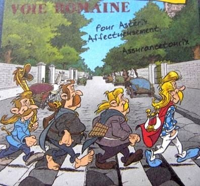 beatles abbey road asterix