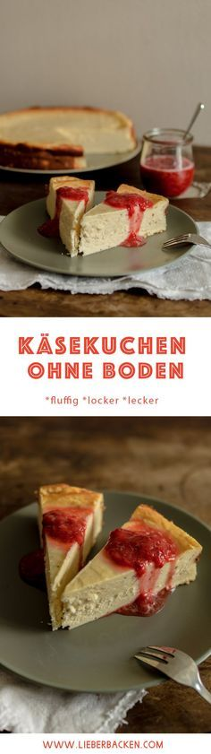 Fluffiger Käsekuchen ohne Boden // No crust cheesecake