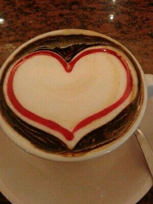 Heart cappuccino