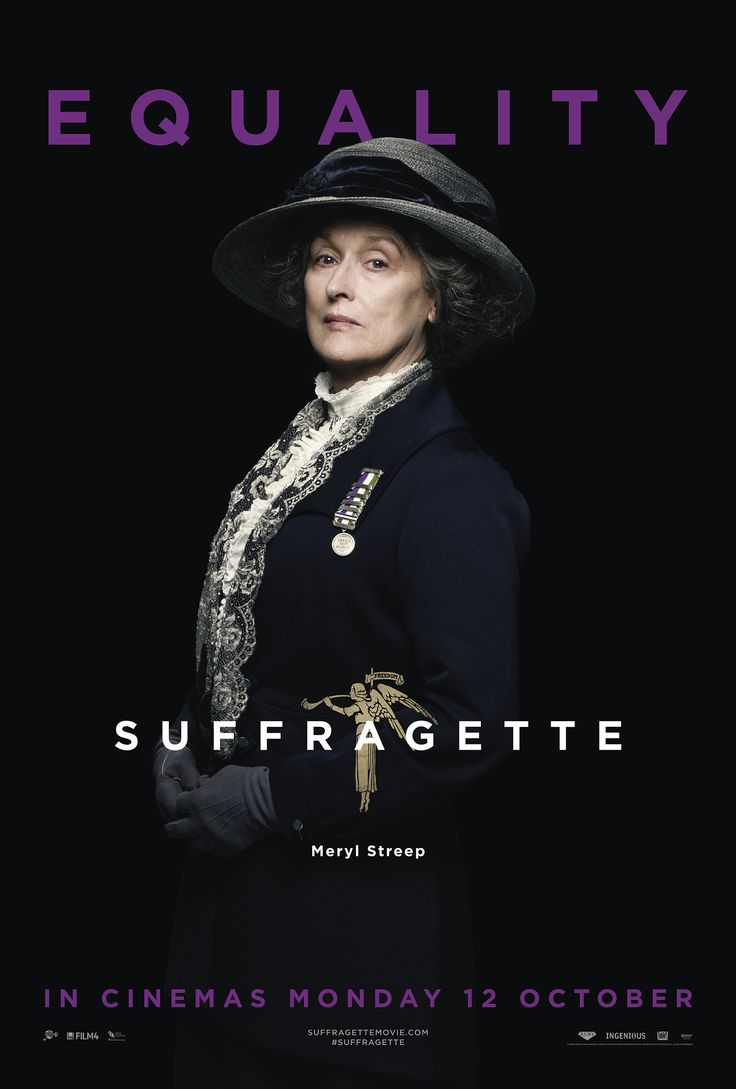 Meryl Street stars in Suffragette, backed by Film4 and released 12th October