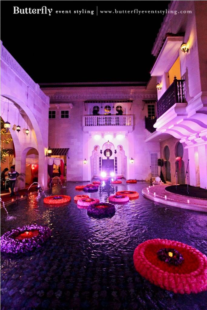 Located centrally in the heart of Jakarta, Morocco House and Casa Andalucía are the perfect places to entertain your exclusive wedding guests away from the daily chaos of the city in Indonesia. Bring the experience to them at this unique property. Pamper them at a privately-owned destination that embodies the splendour of ancient Moroccan architecture and the Mediterranean. Photo Credits: butterflyeventstyling More at : www.venuerific.com