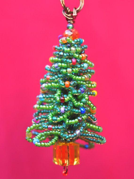 Beaded Christmas Tree Ornaments