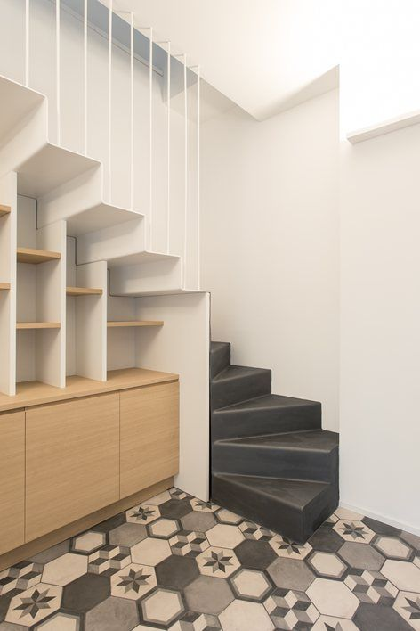 78 best scale images on Pinterest Stair design, Modern stairs and - isolation mur parpaing interieur