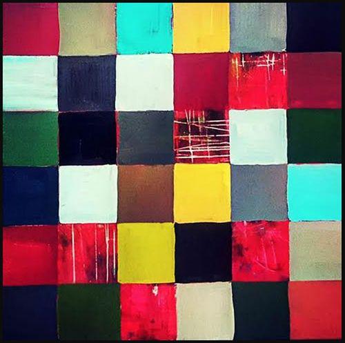 "Simply Formal #5, 2015, acrylic in canvas, 48"" x 48"" (121.9 x 121.9cm)"