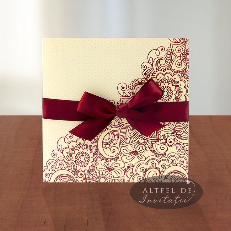 Imagini pentru invitatii nunta grena auriu modele