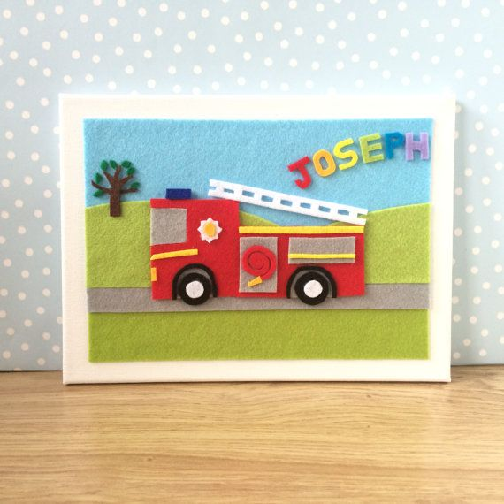 Personalised Childrens Art. Personalised Fire by BunbyAndBean
