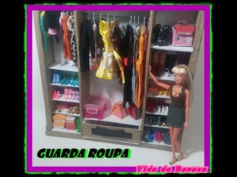 Guarda roupa para o quarto da Barbie