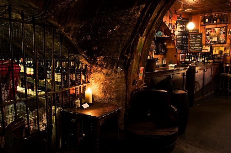 Gordon's Wine Bar, the oldest wine bar in London.
