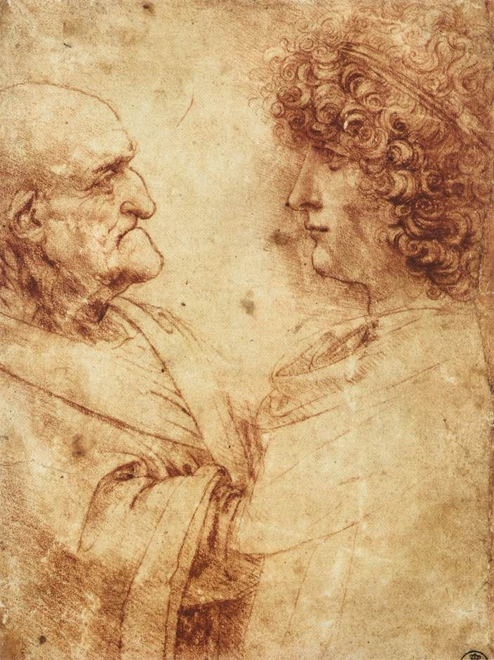 leonardo da vinci paintings | Deluge over a city - Leonardo Da Vinci Gallery - Study Painting Art
