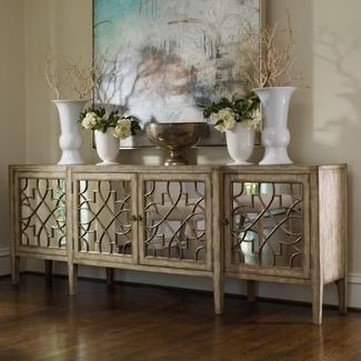 Dining room buffet. Having a love affair with mirror buffets right now.