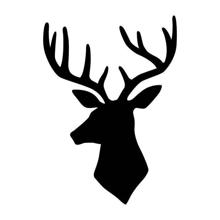25 Best Ideas About Deer Head Stencil On Pinterest Deer