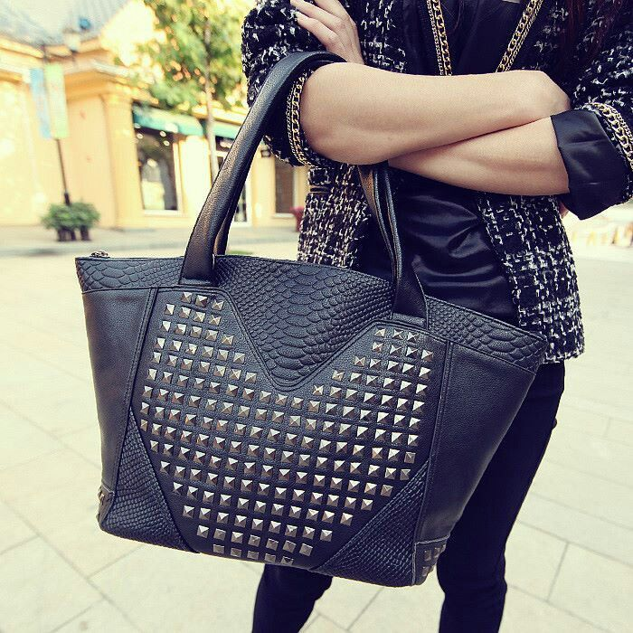 Black bag with studs