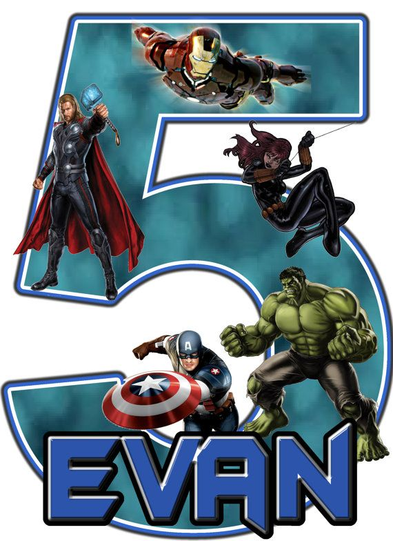 The Avengers Superhero Birthday Party t Shirt Iron On Transfer (OR DIY FILE) Personalized Custom Shirt Decal Applique