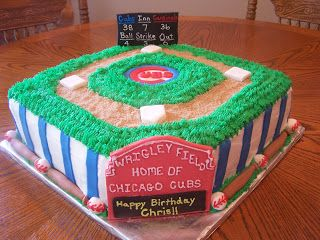 Heather Calvin Cakes: Chicago Cubs Cake