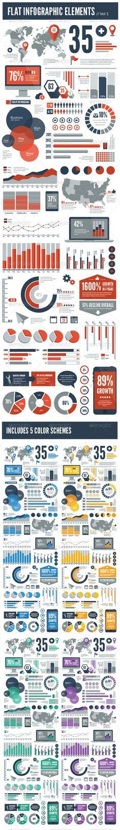 Flat Vector Infographic Elements - Infographics