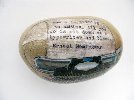 decoupage on a stone.