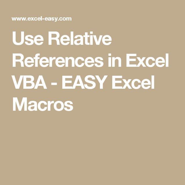 Use Relative References in Excel VBA - EASY Excel Macros
