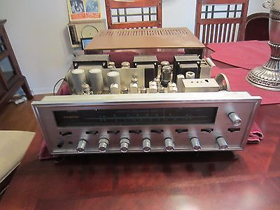 VINTAGE-SANSUI-TUBE-POWERED-TUNER-AMPLIFIER-MODEL-1000-A-W-COVER-POWERS-UP-NR