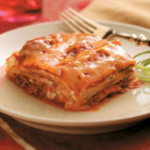 Creamy Lasagna Casserole Recipe from Taste of Home