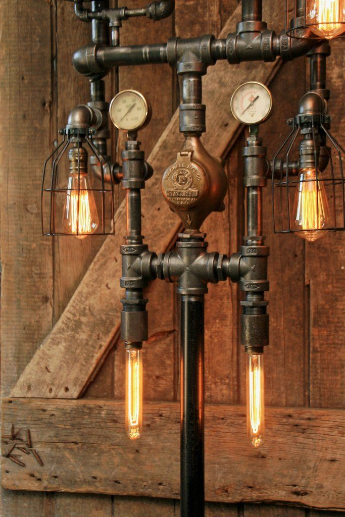 """this design is made to order and make take 4 weeks to ship. We have many of these large 14"""" steam gauges, we can send you photos to choose from.  Lamp #1243 Each lamp has a unique serial number and signed, (serial numbers can be tracked on ourwebsite) Copyrighteddesign, We will register this design with the copyright office as a work of art/sculpture Amazing antique steam gauge! Large 14.5"""" diameter This is a super nice gauge, with the open middle exposing the gears and ..."""