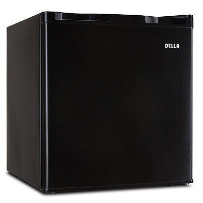 Black Compact 1.6 Cu Fridge Dorm Cooler Office Refrigerator Mini Small Freezer
