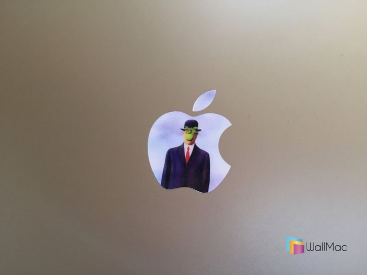 Son of Man Glowing Backlit Apple Logo for MacBooks 2 Decals per Order by WallMac on Etsy