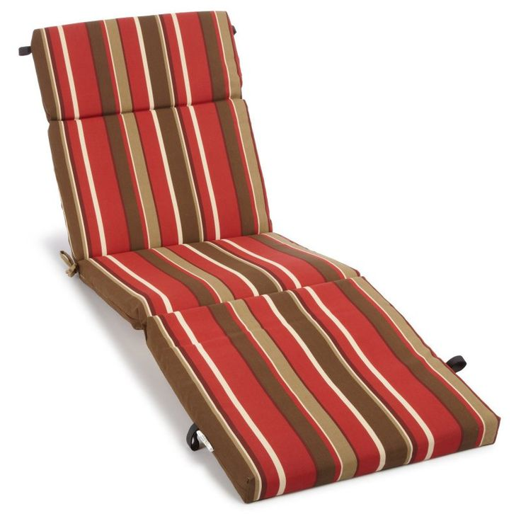 Blazing Needles 73 x 24 in. Outdoor Chaise Lounge Cushion Monserrat Sangria - 93475-SGL-DAC/REO-33