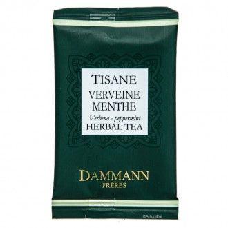 Tisane verveine-menthe de la maison DAMMANN FRÈRES, à découvrir sur http://www.alunithe.com/sachets-de-the/marques/sachets-thes-dammann-freres/sachet-the-dammann-tisane-verveine-menthe-infusion.html - #dammann #frères #tisane #verveine #menthe