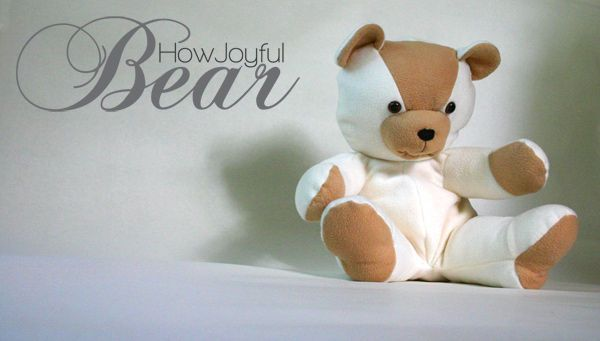 Make your own teddy bear - try with old shirt or some other piece of clothing from a loved one that you can't let go
