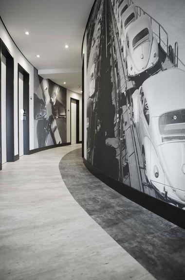Na łącznej powierzchni 1780 m kw. hotelu *Innside Hotel* w Wolfsburgu podłogi zostały pokryte ekologiczną wykładziną PURLINE.