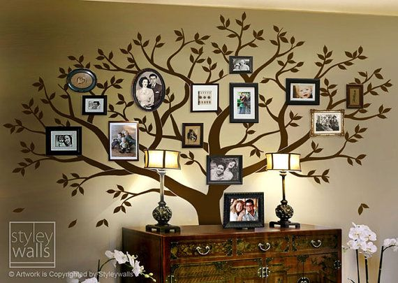 Family Tree Wall decal Tree Wall Decal Photo Frame by styleywalls