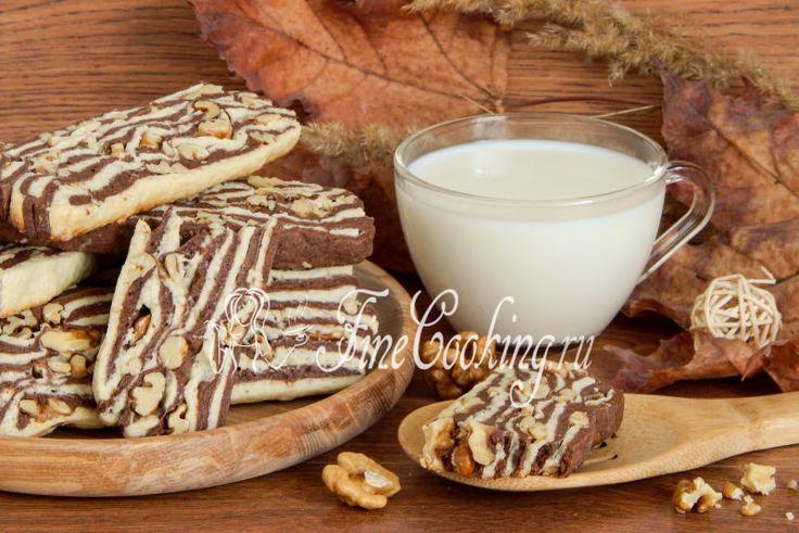 Песочное печенье с орехами - рецепт с фото