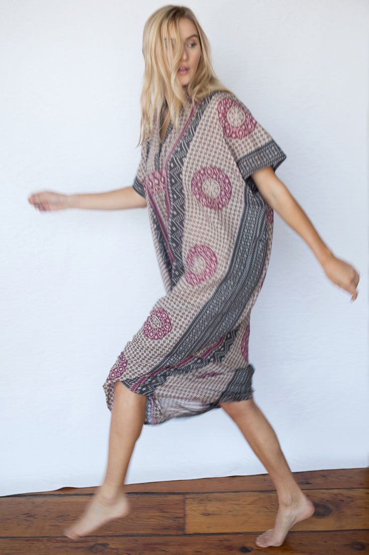Emerson Fry for Mavenhaus Collective Caftan in Rhodolite