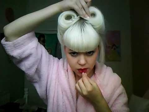 awesome victory rolls hair video...because there's a kitty purring in the background music!!!