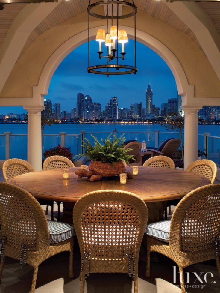 Transitional Wooden Patio. Outdoor AreasOutdoor DiningOutdoor RoomsWooden  ...