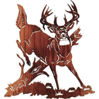Jumping Buck Deer Metal Wall Art at Cabelas