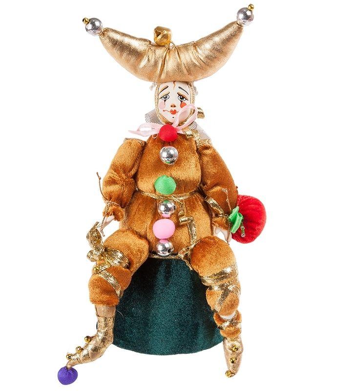 Кукла малая «Двуликий шут-Янус» RK-403      Страна производства: Россия;   Материал: фарфор, текстиль;   Высота: 22 см;          #dolls #china #textiles #handmade #doll #фарфор #текстиль #авторскиекуклы #ручнаяработа #кукла #куклы