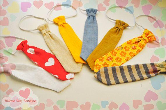 Baby 8 Tie Set Baby Boy Tie Newborn Boy Tie by DoloresBabyBoutique