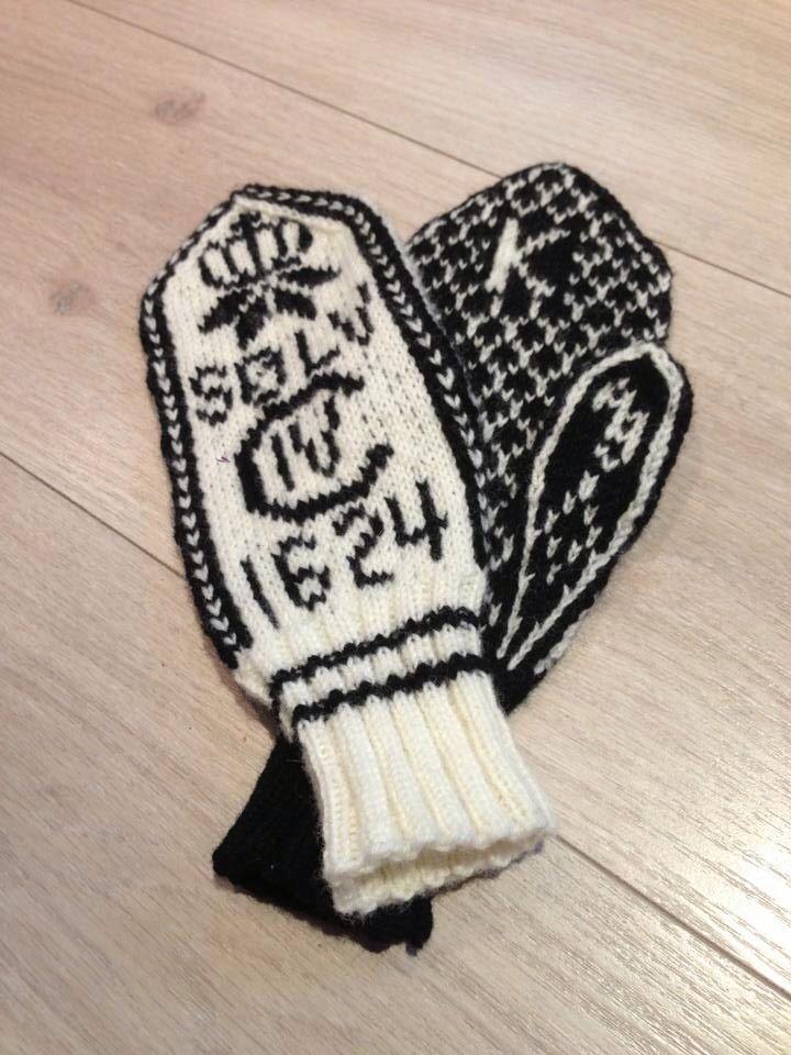 'Kongsbergvotten', mittens from Kongsberg in Norway. Pattern from Kongsberg Husfliden.