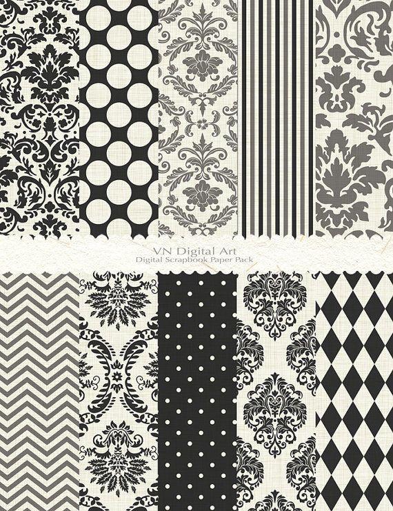 Digital Paper Damask Basic Textured Digital Paper by VNdigitalart, $3.00